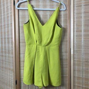 Topshop Lime Green Romper